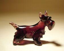 """Blown Glass """"Murano"""" Art Figurine Dog Scottish Terrier Standing"""