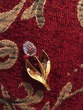 Swarovski swan signed brooch