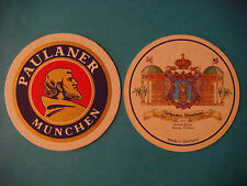 Beer Coaster <> PAULANER Brauerei GERMANY ~ Hofgarten Brauhaus ~ Naples, FLORIDA
