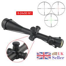 Tactical 6-24x50E Optics Sniper Air Riflescope Telescopic Hunting Scope Sight UK