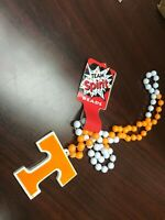 NCAA Tennessee Volunteers  Vols Team Logo Mardi Gras Bead Necklace