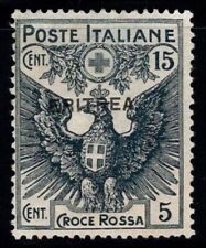 Eritrea 1916 Sass. 42 MNG 100% Red Cross, 15 cents + 5 cents