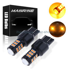 2x 7443/7444NA LED Amber Yellow Turn Signal Parking 30-SMD Light Bulbs Lamps
