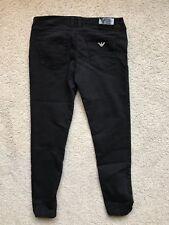 Black Armani Jeans Ladies Size 28 Crop Leg Petite