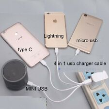 4in1-USB-Charger-Cable-for-iPhone-5-6-7-ipad-micro-TYPE-C-MINI  USB3.1 huawei