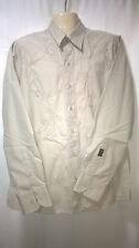 Mens Colorado Jeans Shirt, M, Long Sleeves, 100% Cotton, Beige