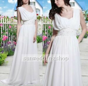 New Custom Made Beaded Wedding Dress Bridal Evening Party Ball Gown All Size