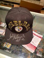 JOHN STALLWORTH PITTSBURGH STEELERS SIGNED STEELERS BASEBALL CAP JSA