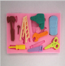 Lovely Silicone Cake Fondant Mold Topper Hammer Spanner Tools DIY Baking Moulds