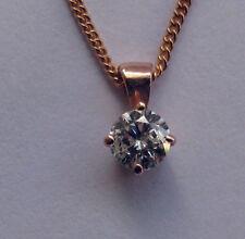 Collane e pendagli con diamanti naturali oro rosi diamante