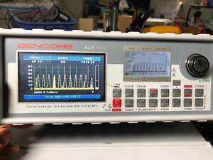 SENCORE SLM1475 FM TV SAT DVB T C S VSB J83B RF Signal Analyzer 4 To 2250 MHz
