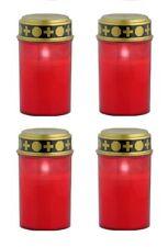 4 Stück LED Grablicht Kerzen | Grabkerze | Grableuchte Grablampe Friedhofskerze