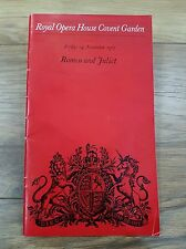 """Romeo and Juliet"" Programme Royal Opera House Covent Garden 24th November 1967"