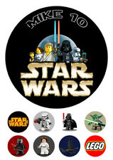 """Personalized LEGO Star Wars cake decoration 7.5"""" ICING WAFER edible topper"""