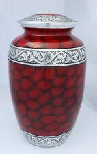 Large Cremation Urn for Ashes Adult Funeral Memorial Red Urn PROMOTION OFFER