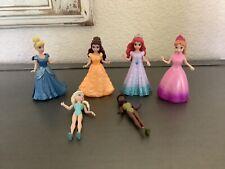 Disney Princess Magiclip Magic Clip Polly Pocket 6 Dolls 4 Dresses Glitter Tiana