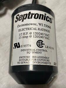 Septronics Standard 90º Mechanical Control Float Switch w/ Weight 4203-(30SMNOW)