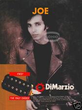 JOE SATRIANI PINUP AD Dimarzio Fred Guitar Pickup HAIR