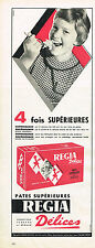 PUBLICITE ADVERTISING  1960   REGIA  pates alimentaires