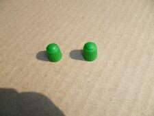 NEW GREEN VALVE CAPS X 2 PIT BIKE QUAD BIKE