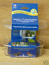 Droll Yankees Observer Window Mount Bird Feeder Offer Mealworms Seed Fruit Owf