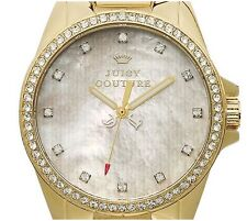New Juicy Couture Watch Stella Crown Pave Gold Plated Stainless Bracelet