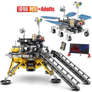 Lunar Lander Space Rocket Building Blocks Airship Figures Bricks Toys for Kids