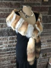 Reduced Price  RED FOX FUR  SHRUG SHAWL WRAP COLLAR Made in the USA