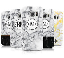 PERSONALISED MARBLE INITIALS CUSTOM MOBILE PHONE CASE FOR SAMSUNG GALAXY S6 EDGE