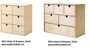 Ikea moppe  Mini chest of drawers  Wood 42x18x32 cm or 31x18x32 cm
