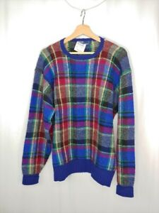 Polo Ralph Lauren Men's Large NEW DAMAGED Plaid Lambswool Pullover Sweater