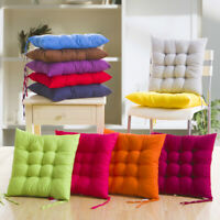 Thicken Plain Seat Pad Dining Room Garden Kitchen Chair Cushions Tie On Posh