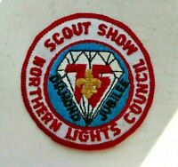 Vintage cloth Scouts badge, Scout Show, Northern Lights Council, Diamond Jubilee