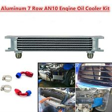 Universal 7 Row AN-10AN Aluminum Engine Transmission Oil Cooler Silver 248mm