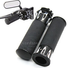 """1""""25mm CNC Handle Bar Hand Grips For Harley Sportster Touring Dyna Softail New"""