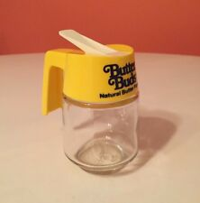 Vintage BUTTER BUDS Natural Butter Flavor Glass Serving Jar Pitcher Dispenser