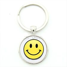 Smiley Face Key Chain Smile Smily 70's Happy keychain FOB Retro vibe style