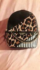VICTORIA'S SECRET Mini Backpack Black, Zebra Stripes, & Leopard Design ☆NWOT☆
