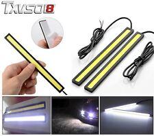 2x white 17cm LED Strip Daytime Running DRL Bar Light Waterproof 12V 480LM 6W
