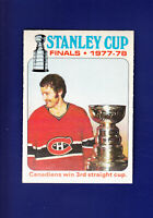 Stanley Cup Finals 1978-79 O-PEE-CHEE OPC Hockey #264 (NM+) Montreal Canadiens
