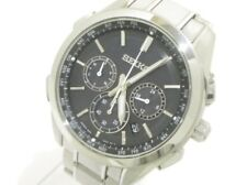 Auth SEIKO Brightz 8B92-0AA0/SAGA197 Black Silver 591012 Men's Wrist Watch