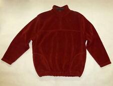 St. John's Bay Men's Maroon Half Zip Fleece Pullover Sweatshirt Sz X-Large Tall