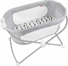 New listing Fisher-Price Soothing View Bassinet – Climbing Leaves Folding Portable Baby C...