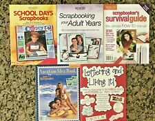 Lot of 5 Scrapbooking Idea Books- Memory Makers, Creating Keepsakes-Excellent