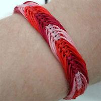Pink Red Bracelet Wristband Bangle Womens Ladies Girls Children Surfer Jewellery