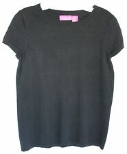 LIZ LANGE MATERNITY Black Sweater Top Short Sleeve Size Small