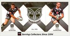 2011 Select NRL Strike Trading Cards Base Team Set Warriors (12)