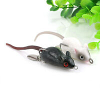 Large Soft Rubber Mouse Fishing Lures Baits Top Water Tackle Hooks Bass Bait Pop