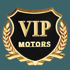 3D Golden VIP Motors Car Side Stickers Car Badge Logo Car Emblems 2Pc