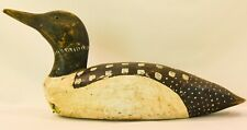 """Duck Decoy, Hand Painted Ardell Waterfield, Knotts Island NC 1994 • 16""""x 6"""" x 8"""""""